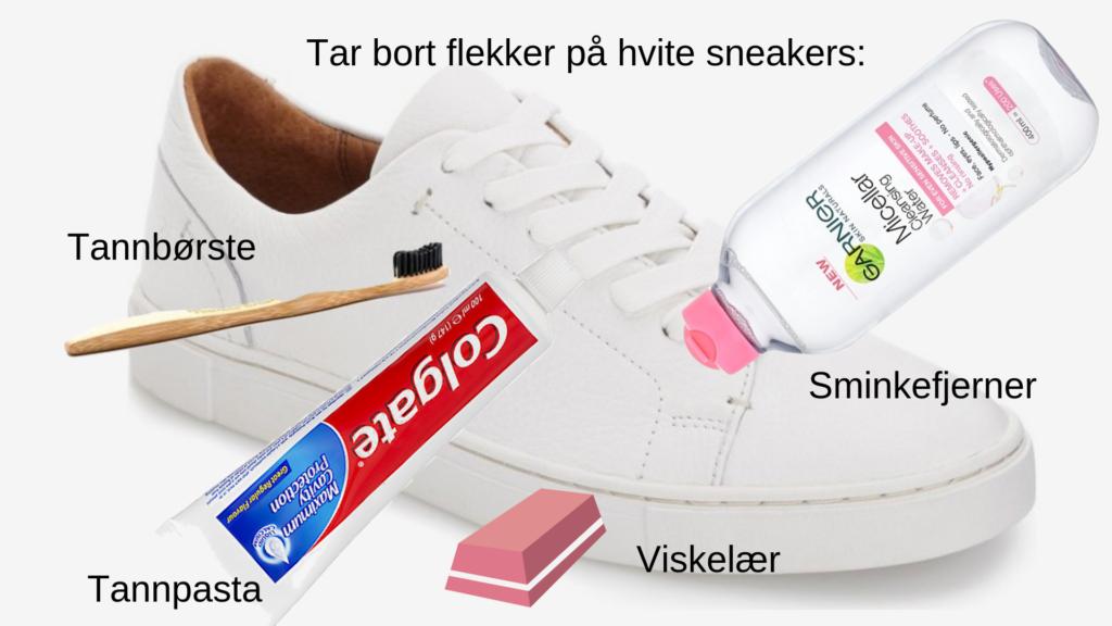 slik får du hvite sko igjen